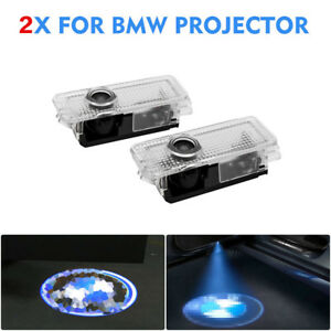 2x Fits Bmw Led Projector Car Door Lights Shadow Puddle Courtesy Laser Logo Lamp