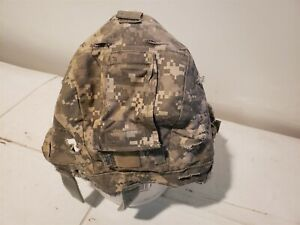 ACH Helmet Cover US Military Issue ACU Digital SM Medium NVG FLAP IR Tabs Good