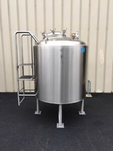 Dci 350 Gallon Stainless Steel Jacketed Processing Tank Vessel
