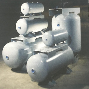New 200 Gallon Vertical Air Tank 200 Psi With Saddle Legs And Top Plate A10140