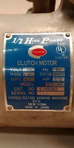 Consew Clutch Motor Singer Sewing Machine 1 2 Hp Industrial Commercial