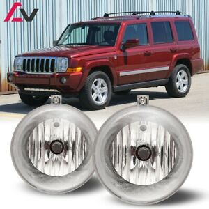 For Jeep Commander 06 10 Clear Lens Pair Bumper Fog Light Lamp Oe Replacement