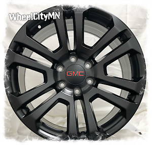 20 Inch Satin Black 2017 Ck158 Gmc Sierra Denali Yukon Oe Replica Wheels 6x5 5