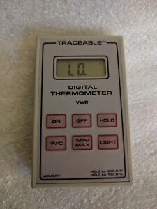 Vwr Scientific Traceable Digital Thermometer Data Log 40 To 300f 40 To 150c