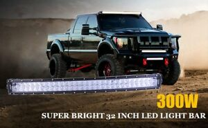 32 Inch 300w 4d Curved Led Lights Bar Truck Offroad Light For Cree 4wd Car Atv