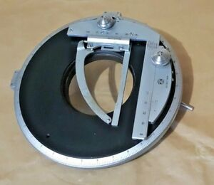 Zeiss Large Rotary Polarizing Stage With Pol X y Specimen Holder Attachment