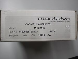 Montalvo M 3224 ce 11506068 Load Cell Amplifier 24vdc Supply Current Max 4w