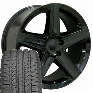 20 Rims Tires Fit Jeep Dodge Grand Cherokee Black Wheels Gy Tires 9082