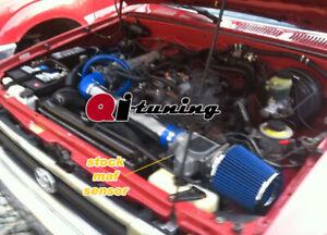 Blue Air Intake Kit Filter For 1989 1994 Toyota 4runner Pickup 2 4l L4