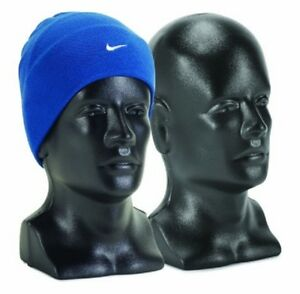 15 Tall Male Mannequin Head Durable Plastic Black