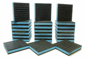 24 Pack Anti Vibration Pads Isolation Dampener Industrial Heavy Duty 4x4x7 8 Blu