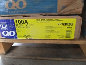Square D 100 Amp Main Breaker 120 240 Volt 24 Circuit Load Center E2296 New