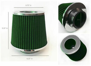 Green 3 Inch 76mm Universal Cone Shaped Cold Air Filter