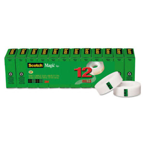 3m Magic Tape Value Pack 3 4 X 1000 1 Core Clear 12 pack 810k12 New