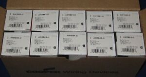 Lot Of 10 Ac Switch Toggle Single Pole 20a 120 277vac Ah1991 c By Cooper Wiring