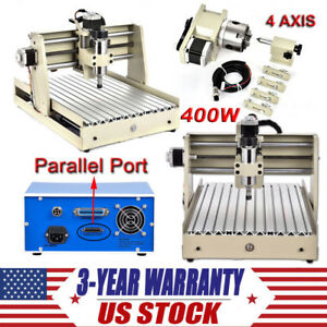 400w Cnc Router Engraver Engraving Cutter 4 Axis 3040 Desktop Cutting Milling Us