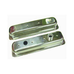 Rpc Engine Valve Cover Set R6045 Short Polished Aluminum For Chevy Lt1