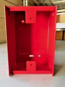 Red Metal Back Boxes Lot Of 10 Bb 2 For Fci Ms 2 Pull Stations new