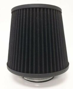 Black 3 Inch 76mm Universal Cone Shaped Cold Air Filter