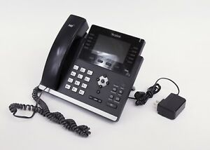Yealink Phones Model T46g In Black With 4 3 Color Display
