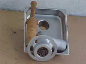Hobart 12 Commercial Meat Grinder Attachment W S s Tray