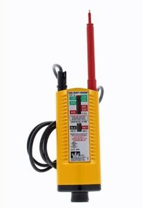 Compact Frame Manual analog Voltage Tester W Bright Led And Neon Indicator Lamp