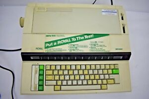 Royal Alpha 600 Electric Typewriter Tested Works Euc