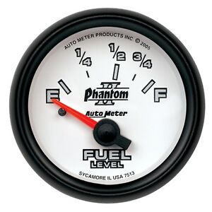 Autometer 7515 Phantom Ii 2 1 16 Fuel Level 73 10 Ohms Electrical