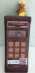 Omega Hh23 Type J k t Microprocessor Thermometer Probe