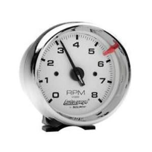 Auto Gage By Autometer 2304 3 3 4 Chrome Tachometer 8 000 Rpm