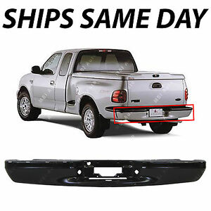 New Primered Rear Steel Bumper Bar Replacement For 1997 2003 Ford F 150 Pickup
