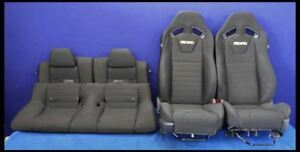 2013 2014 Ford Mustang Gt Cloth Track Pack Recaro Oem Coupe Seats Racing