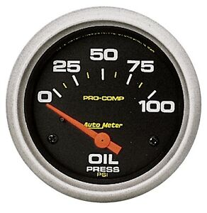 Autometer 5427 Pro comp Cams P 2 5 8 Oil Pressure Gauge 0 100 Psi Electrical