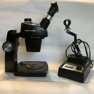 Bausch Lomb Stereozoom 4 0 7x 3 0x Microscope And Microscope Illuminator