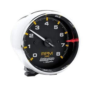 Auto Gage By Autometer 2301 3 3 4 Chrome Tachometer 8 000 Rpm