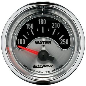 Autometer 1236 American Muscle 2 1 16 Water Temperature 100 250 Degree
