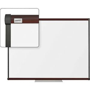 Staples Dry erase Whiteboard With Tray Mahogany Frame 4 X 3