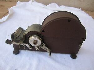 Vintage Industrial Jiffy Automatic Package Taper Metal Tape Dispenser