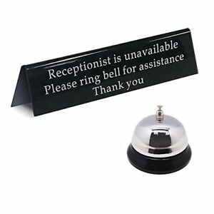 Mess Call Bell And Away From Desk Receptionist Is Unavailable Sign durable