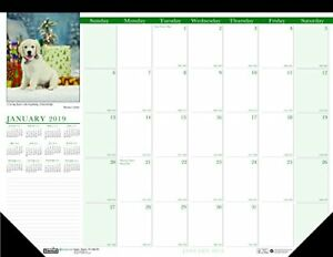 House Of Doolittle 2019 Monthly Desk Pad Calendar 18 5 X 13 Inches puppies