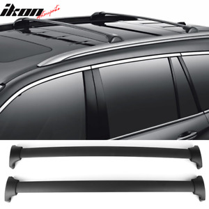 Fits 16 18 Honda Pilot Factory Style Aluminum Top Roof Rack Cross Bar Black