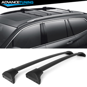 Fits 16 18 Honda Pilot Factory Style Aluminum Cross Bars Roof Racks Black
