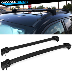 Fits 17 20 Jeep Compass Factory Style Aluminum Black Roof Rack Cross Bars Pair