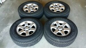 Ford F150 Charcoal Gray Fx4 Oem 20 Wheels And Michelin Ltx M s2 275 55 20 Tires
