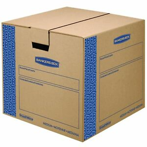 Bankers Box Smoothmove Prime Moving Boxes Tape free Fastfold Easy Assembly
