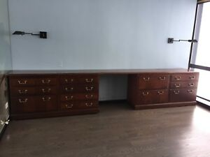 Desk Kimball Chippendale Credenza Brass And Solid Wood