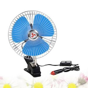 8 Inch 12v Car Oscillating Fan Dashboard Cooling Fan For Buses Trucks Cars Boats