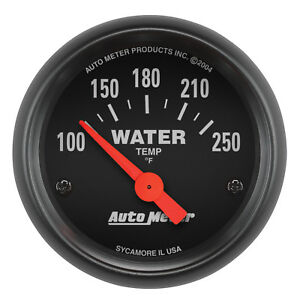 Autometer 2635 Z Series 2 1 16 Water Temperature 100 250 Degrees Electrical