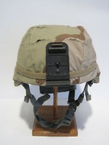 OUTSTANDING MSA LARGE ACH HELMET WITH NEW REVERSIBLE CAMO COVER AND RHINO MOUNT