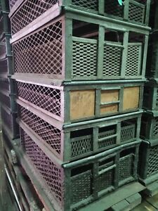 Heavy Duty Stackable Storage Bins Vintage Industrial Steampunk Utility Baskets